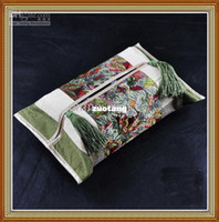 Wholesale Facial Tissue Box Covers Unique High End Silk Cotton Tassel Craft New pack mix Free