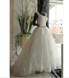 Wholesale European style palace princess wedding dress new fashion shoulders with high quality lace waist was thin