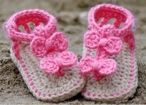 Crochet Pattern Baby Booties Orchid Sandals : 2017 Crochet Baby Sandals Baby Booties Baby Shoes, Baby ...