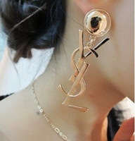 Wholesale 2013 NEW Nice Jewelry Acrylic Gold and silver Stud Earrings Hot Best Gift C0432