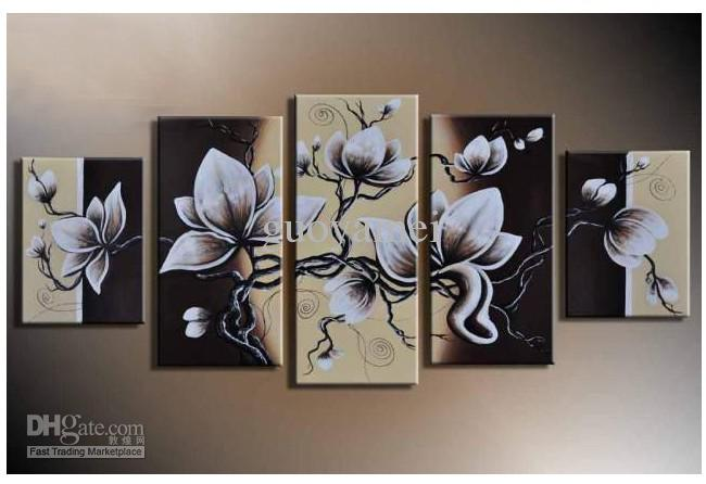 Beautiful Wall Art Hand Painted Wall Art Beautiful White Petals Home  Decoration