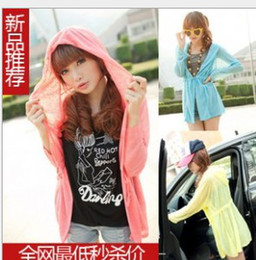Wholesale New long sunscreen clothing shawl candy colored long sunscreen air conditioning Shirts