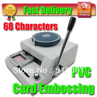 Wholesale New Letter PVC ID Credit Card Embossing Stamping Machine Embosser