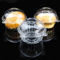 Wholesale 100pcs cupcake box Plastic single cupcake boxes Muffin Dome Holders Cases Boxes Cups Pods