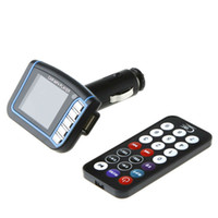 Wholesale Colorful Recent quot LCD Car MP3 MP4 Player Wireless FM Transmitter with Remote SD MMC Card