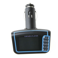 Wholesale 4 Colors for Recent quot LCD Car MP3 MP4 Player Wireless FM Transmitter with Remote SD MMC Card