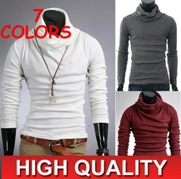 Wholesale 2013 HOT New Korea Men s Casual Slim Fitt T shirt Shirts Tee Tops size M L XL XXL WHITE
