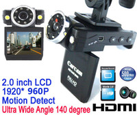 Wholesale New P HD IR LED Car Vehicle Cam Video Camera Recorder Camcorder DVR Car dvr Ultra wide angle degree HDMI USB