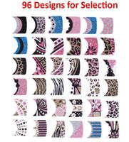 art beads korea - 96 Designs Korea Styles Colorful Glitter French Manicure Nail Art Stickers Sheets F