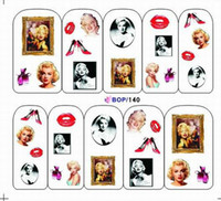 tattoo tool box - 182 Designs BOP Full Nail Art Decal Water Slide Temporary Tattoos Stickers Various Styles