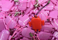 Wholesale 500pcs USB Card Reader Android Robot Doll Mobile Phone Pendant Micro SD Card Reader