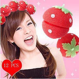 Wholesale Strawberry Balls Soft Sponge Hair Curler Rollers