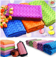 Wholesale Portable Anti skid Yoga Mats Microfiber Yoga Towel Eco friendly Yoga Mat Blankets Multi colour x63cm
