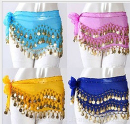 Wholesale 50pcs fast shipping Egypt belly dance hip scarf belly dancing belt women wear costumes set coins Color Diamond