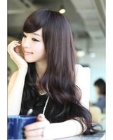 Wholesale Girls wig scroll bulkness linen wifing big wave oblique bangs repair pear stubbiness