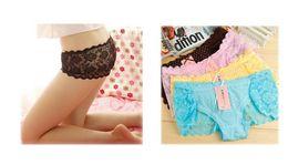 Wholesale retail lace roses sexy women ladies girls waist inch low waistline panties shorts briefs underwear Lingerier