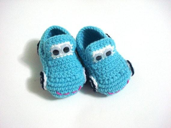 Best Baby Crochet Shoes Baby Boys Cars Booties Infant ...