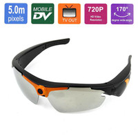 Wholesale 10pcs P MP HD Sport Sunglasses Camcorder Mini HD Eyewear Recorder DV Spy Sunglasses Camera