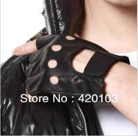 Wholesale promotion Men and women Punk Rock LADY GAGA Fingerless Motorcycle Biker Gloves