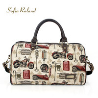 Wholesale SOFIA ROLAND unique motorcycle pattern fashion shoes handbags FASHION SR11824 hot sale