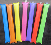 Wholesale 60cm cm Pong Bong Sticks Air Bang Sticks Air balloon Fashion Party PE Inflatable Cheering Stick
