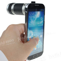 Wholesale 8X Zoom Telescope Lens Clear Case for Samsung Galaxy S4 GT i9500
