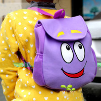 Wholesale Dora the Explorer quot Backpack quot Mr Face Plush Backpack Shool Bag Purple Toddler Size New
