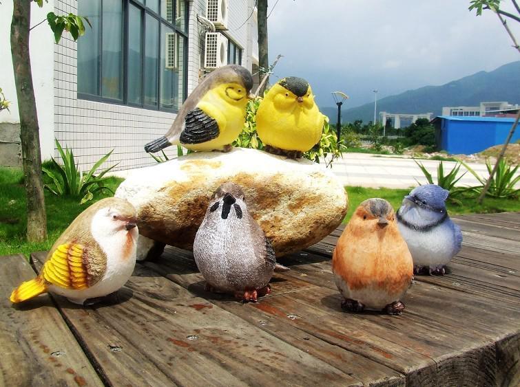 2016 creative resin crafts artificial birds garden home for Fake birds for crafts