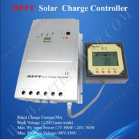 Wholesale DHL V DC auto work A MPPT solar charge controller Tracer3215 RJ45 interface with remote meter MT