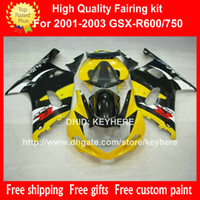 ABS Plastic fairing kit for SUZUKI GSX- R 600 750 2001 2002 2...
