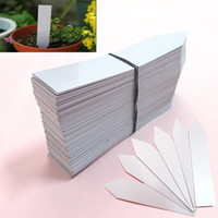 PVC Nursery Pots - 100PCS quot White Plastic Plant Seed Labels Pot Marker Nursery Garden Stake Tags