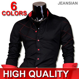 Wholesale Jeansian Brand Designer Mens Long Sleeve Fashion Dress Casaul Shirt T S M L XL XXL