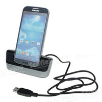 Wholesale Dock Station Stand Charger Cradle USB Cable for Samsung Galaxy S4 i9500