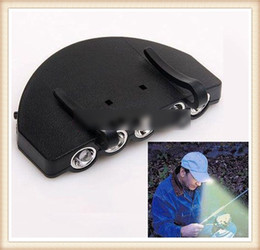 Wholesale 5 LED LIGHT Under the Brim Cap Hat Light Hunting Fishing Light LED Cap Light Outdoor Headlamps