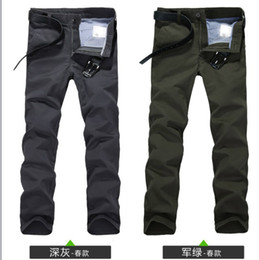 Wholesale 2013 new men s cotton casual pants men refreshing summer straight trousers Army Green