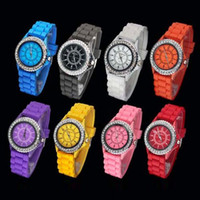 Wholesale Quick selling Geneva Colors Silicone Unisex Lady Child s jelly Wrist Quartz Watch