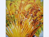 Wholesale Modern Popular Home Decoration Paintings Auturn Golden The Leaves Paints Popular Red Flower Prints