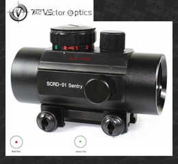 Wholesale TAC Vector Optics Tactical Sentry x35 Compact Red Green Dot Scope Sight w Caps Fit mm Weaver Rail for Hunting