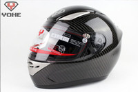 Wholesale YOHE YH motorbike carbon fiber motorcycle helmet full face helmets for motorcycle motocross helmet DOT certificate