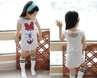 Wholesale Children Lovely Kids Clothing Girls Minnie Dresses Summer Wear Sleeveless Best Selling