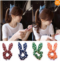 Wholesale Hot Sale Rabbit Ear Korean Japan Style Tie Headband Hair Band Pony Tail Holder