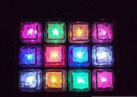 LED Ice Cube Light 7 Color Changing Flash Crystal Cube Roman...