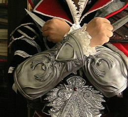 Wholesale Assassin s Creed Brotherhood Hidden Blade Gauntlets arrow Ezio Auditore Cosplay