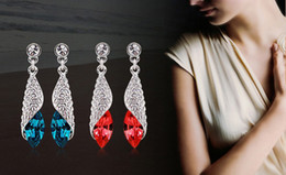 Free Shipping Austrian Crystal Earrings Sea Remembers Fondly- the light of sea