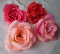 Wholesale NEW ARRIVALS cm Mixed Colour Order Artificial Silk Simulation Camelia Flower Heads Fabric Peony Rose Floral Decorations