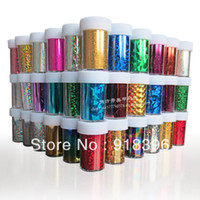 Wholesale rolls New Nail Art Transfer Foils Set Free Adhesive Acrylic Gel Nail Art Sticker