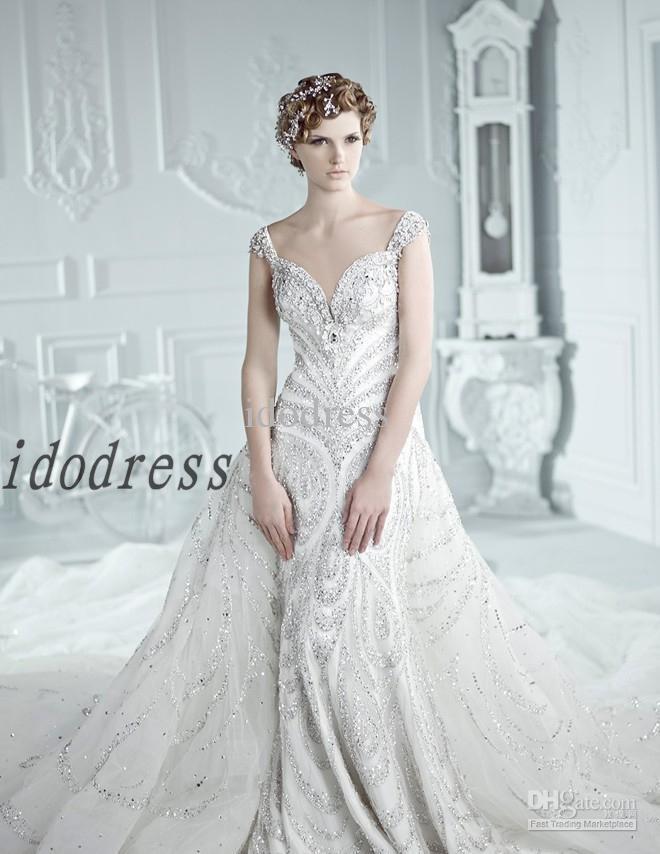 Top Luxury Wedding Dress : Wow top grade luxury wedding dresses hot ball gown off shoulder