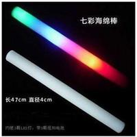 Wholesale LED Colorful rods led foam stick flashing foam stick light cheering glow foam stick foam led EMS