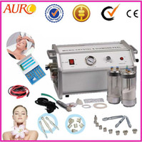 CE 110V/220V 50-60Hz 2 in 1 crystal powder + diamond Microdermabrasion with 9 diamond tip and 3 wands beauty machine AU-8304A