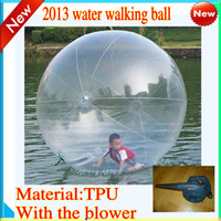 Wholesale 2015 Brand TIZIP Zorb ball Water walking ball Walk on Water Ball inflatable ball dancing ball spor2 M TPU MM with the W blower